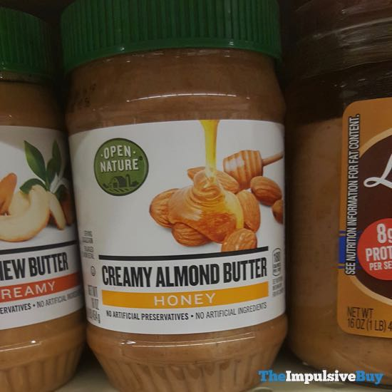 Safeway Open Nature Honey Creamy Almond Butter