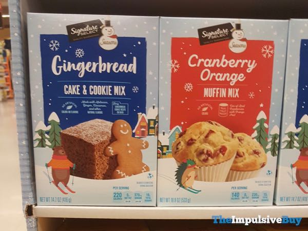 Safeway Signature Seasons Gingerbread Cake  Cookie Mix and Cranberry Orange Muffin Mix
