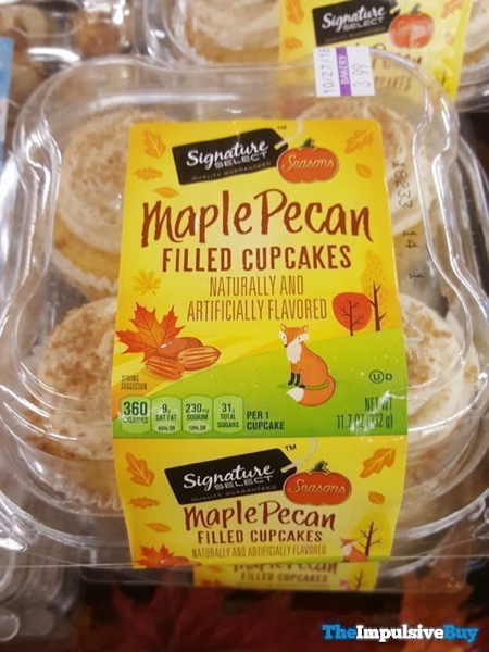 Safeway Signature Select Seasons Maple Pecan Filled Cupcakes