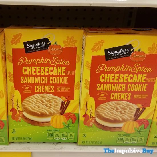 Safeway Signature Select Seasons Pumpkin Spice Cheesecake Sandwich Cookie Cremes