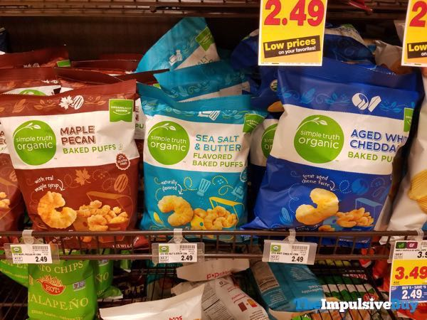 Simple Truth Organic Baked Puffs  Maple Pecan Sea Salt  Butter And Aged White Cheddar