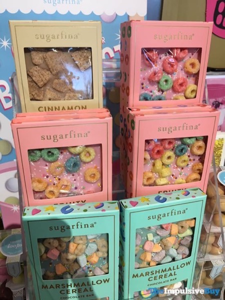 Sugarfina Cinnamon Cereal Fruity Cereal and Marshmallow Cereal Chocolate Bars