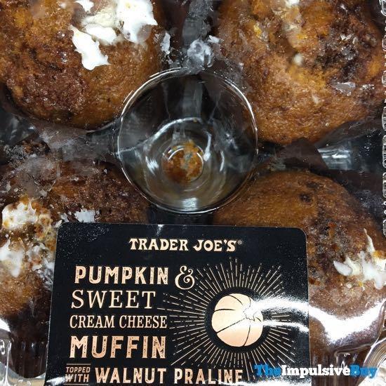 Trader Joe s Pumpkin  Sweet Cream Cheese Muffin Topped with Walnut Praline