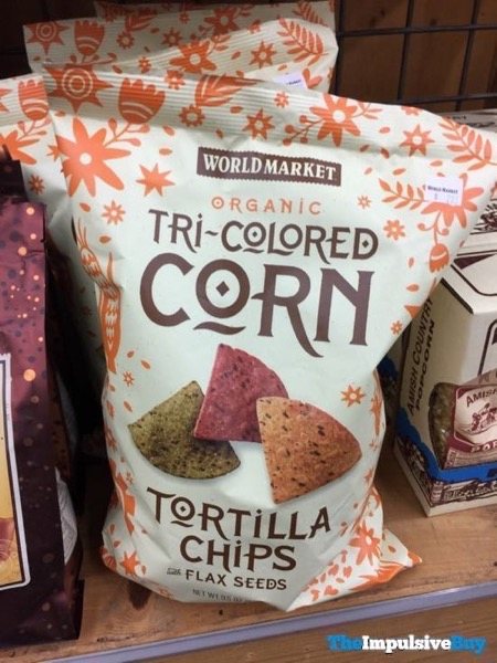 World Market Organic Tri Colored Corn Tortilla Chips With Flax Seeds