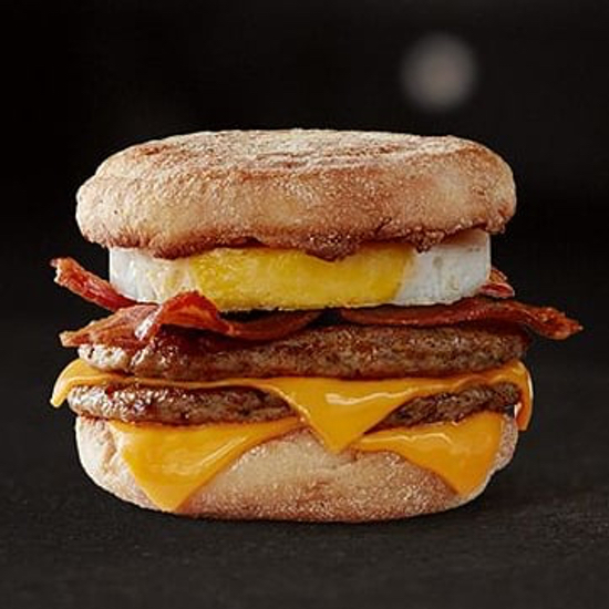 T mcdonalds mcmuffin triplestack