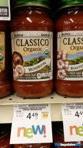 Classico Organic Mushroom and Roasted Garlic Pasta Sauces