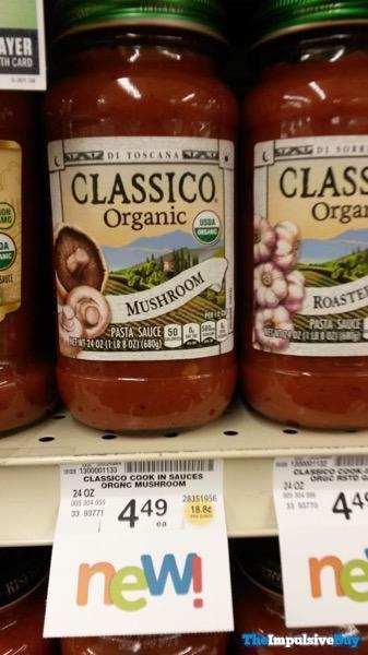 Classico Organic Mushroom and Roasted Garlic Pasta Sauces
