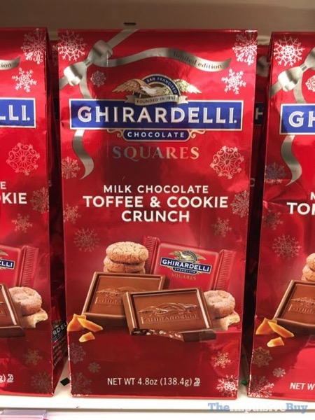 Ghirardelli Limited Edition Milk Chocolate Toffee  Cookie Crunch Squares