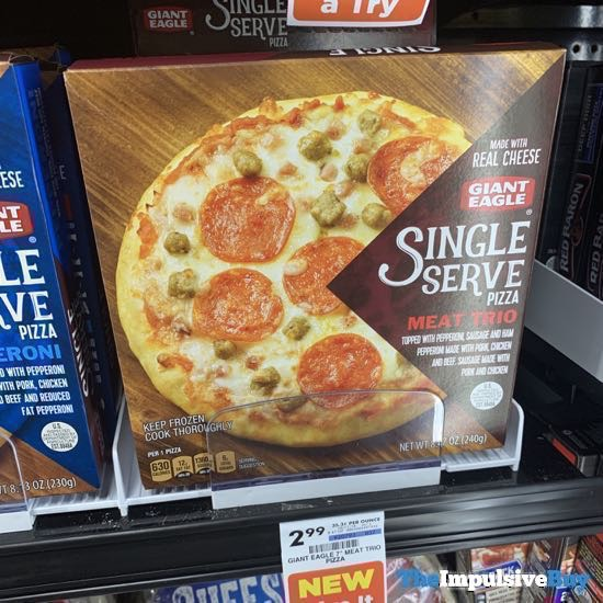 Giant Eagle Meat Trio Single Serve Pizza