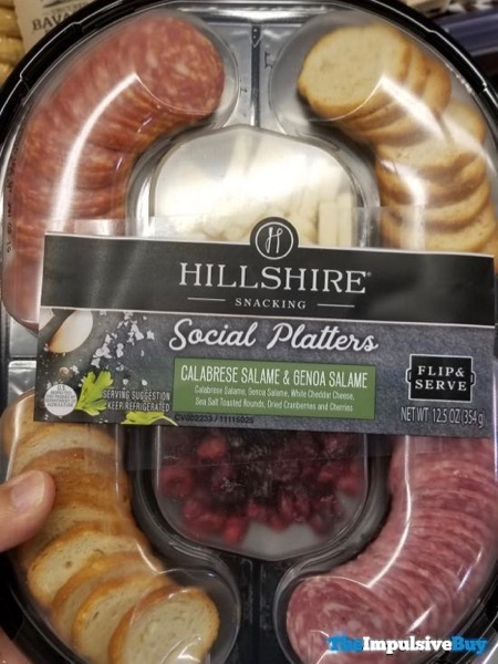 Hillshire Snacking Social Platters Calabrese Salame  Genoa Salame