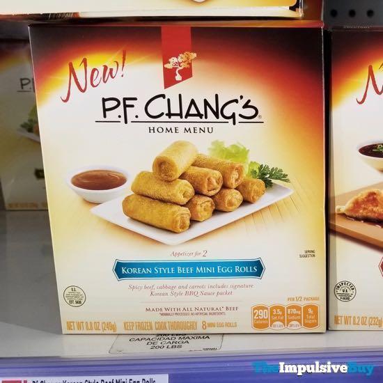 P F Chang s Home Menu Korean Style Beef Mini Egg Rolls