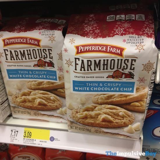 Pepperidge Farm Farmhouse Thin  Crispy White Chocolate Chip Cookies