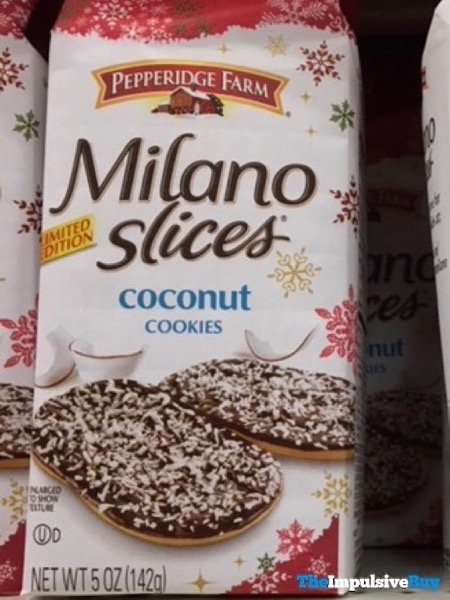 Pepperidge Farm Limited Edition Milano Slices Coconut Cookies