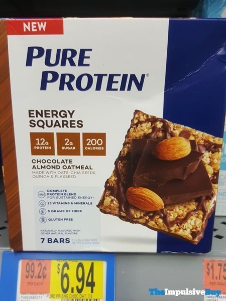 Pure Protein Chocolate Almond Oatmeal Energy Squares
