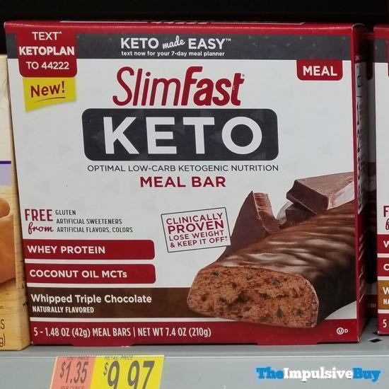 SlimFast Keto Whipped Triple Chocolate Meal Bar