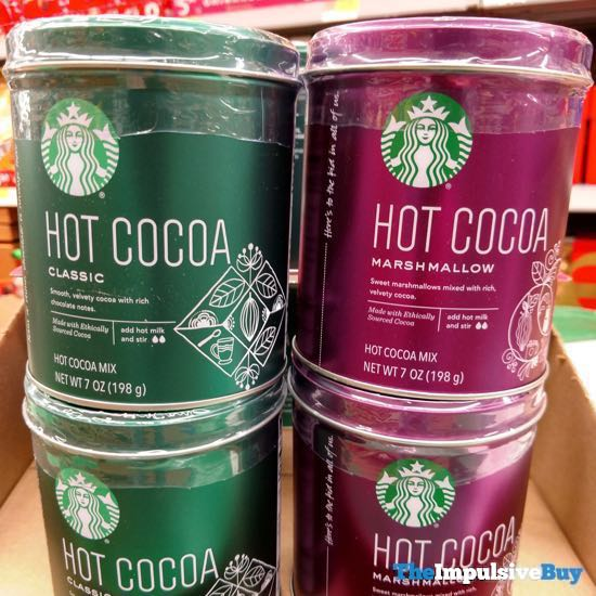 Starbucks Classic and Marshmallow Hot Cocoa Holiday Tins