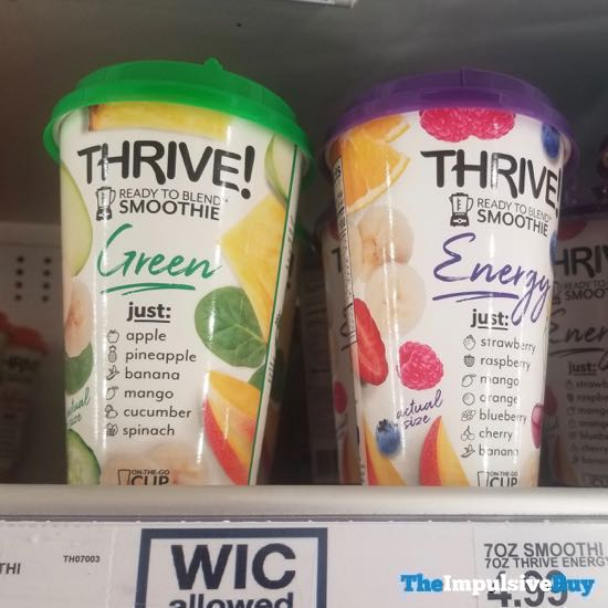 Thrive Green and Energy Ready to Blend Smoothies