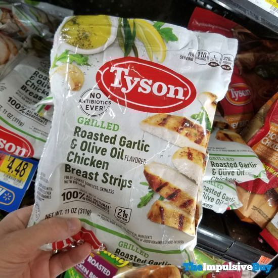 Tyson Grilled Roasted Garlic  Olive Oil Chicken Breast Strips