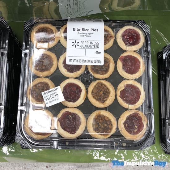 Walmart Bite Size Pies Cranberry Apple and Pecan