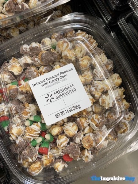 Walmart Drizzled Caramel Popcorn with Candy Corn