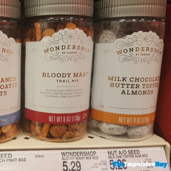 Wondershop at Target Blood Mary Trail Mix and Milk Chocolate Butter Toffee Almonds