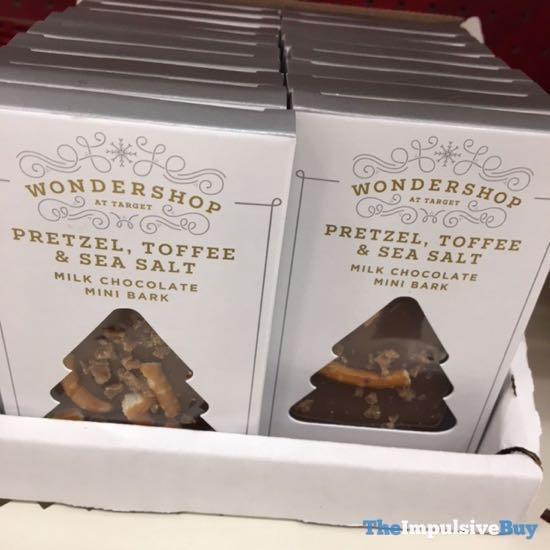Wondershop at Target Pretzel Toffee  Sea Salt Milk Chocolate Mini Bark
