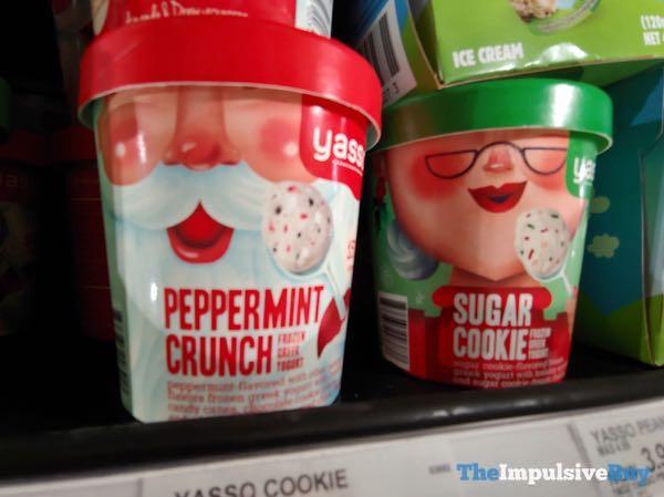 Yasso Peppermint Crunch and Sugar Cookie Frozen Greek Yogurt