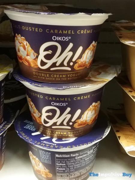Oikos Oh Double Cream Yogurt Salt Dusted Caramel Creme