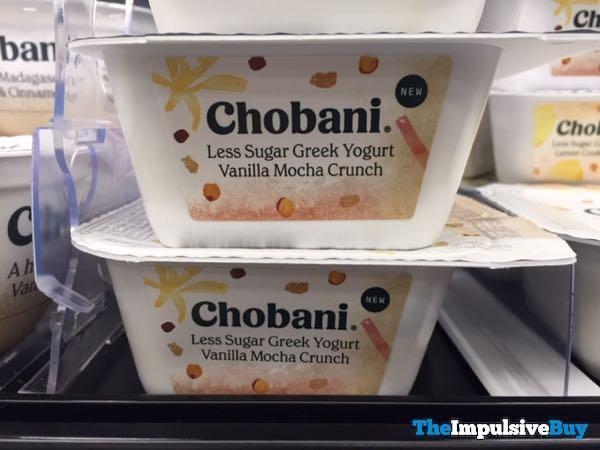 Chobani Less Sugar Greek Yogurt Vanilla Mocha Crunch