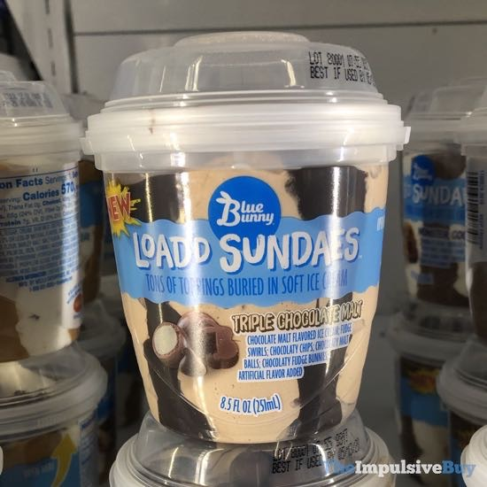 Blue Bunny Load'd Sundaes Triple Chocolate Malt