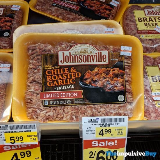 Johnsonville Limited Edition Chile  Roasted Garlic Sausage
