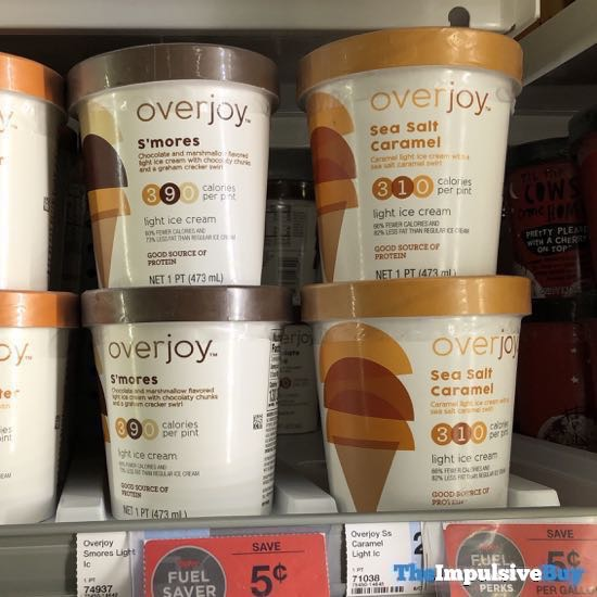 Overjoy Light Ice Cream  S mores and Sea Salt Caramel