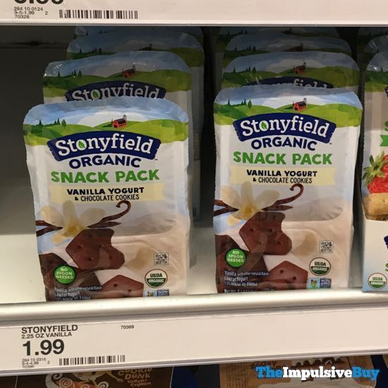 Stonyfield Organic Snack Pack Vanilla Yogurt  Chocolate Cookies