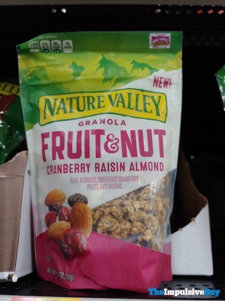 Nature Valley Granola Fruit  Nut Cranberry Raisin Almond