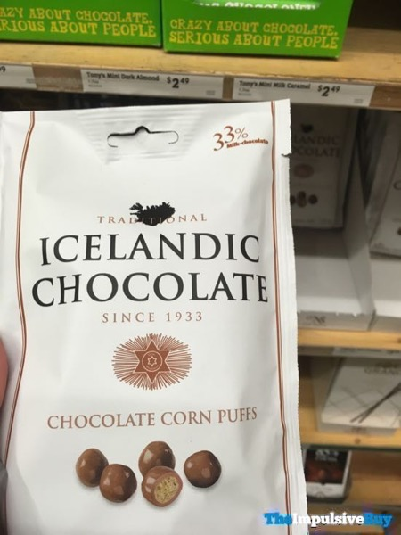 Traditional Icelandic Chocolate Chocolate Corn Puffs