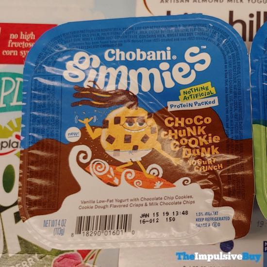 Chobani Gimmies Choco Chunk Cookie Dunk Yogurt Crunch