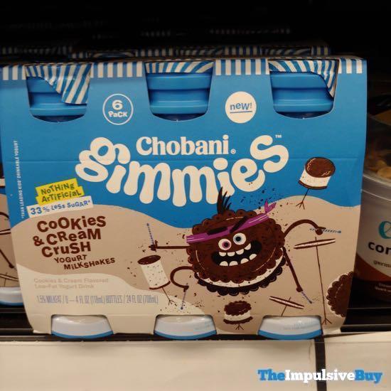 Chobani Gimmies Cookies  Cream Crush Yogurt Milkshakes