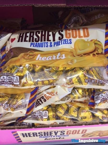 Hershey s Gold Peanuts  Pretzels Hearts
