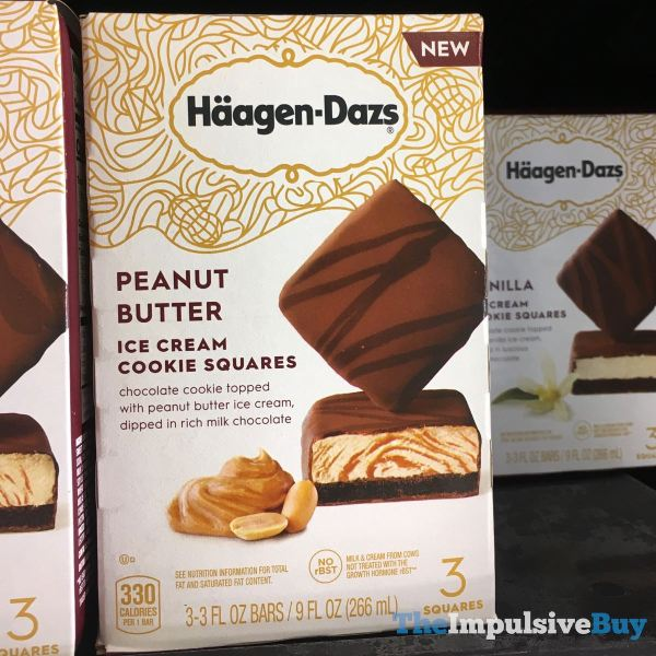 Haagen Dazs Peanut Butter Ice Cream Cookie Squares