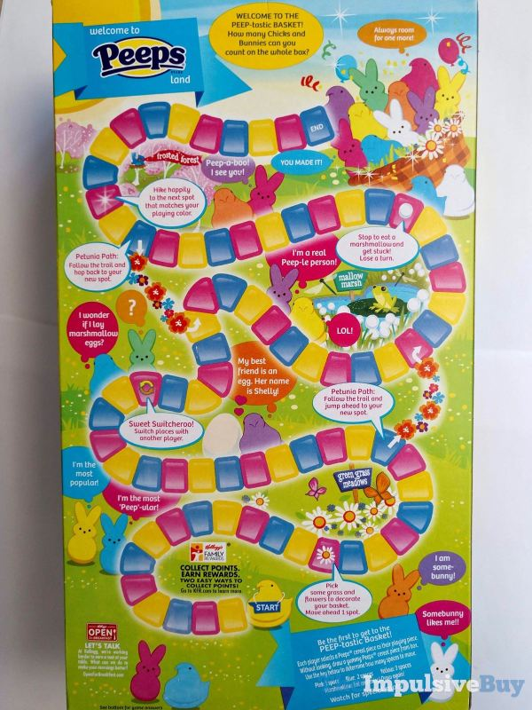 Kellogg s Limited Edition Peeps Cereal Box Back