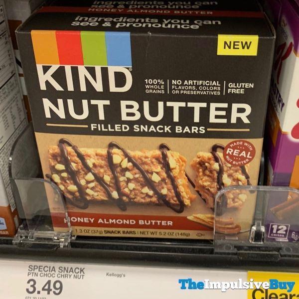Kind Honey Almond Butter Nut Butter Filled Snack Bars