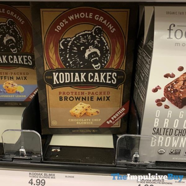 Kodiak Cakes Chocolate Chip Blondie Protein Packed Brownie Mix