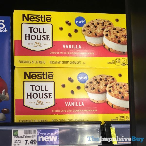 Nestle Toll House Vanilla Chocolate Chip Cookie Sandwiches