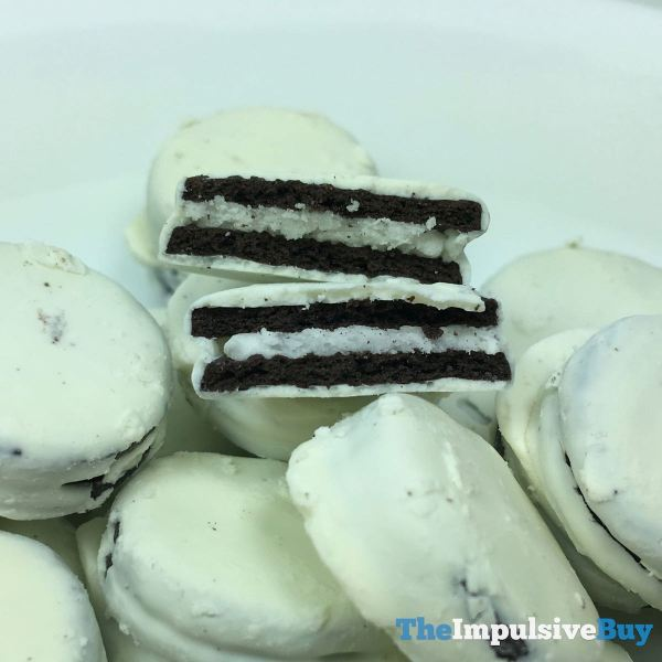 Oreo Thins Bites White Fudge Dipped Original Middle