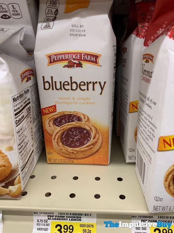 Pepperidge Farm Blueberry Thumbprint Cookies