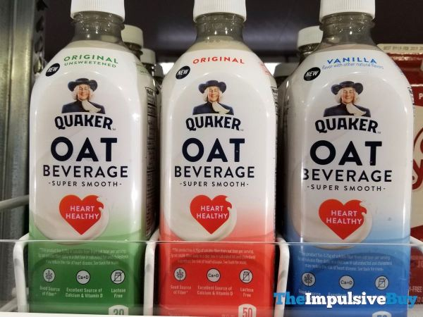 Quaker Oat Beverage Original Unsweetened Original and Vanilla