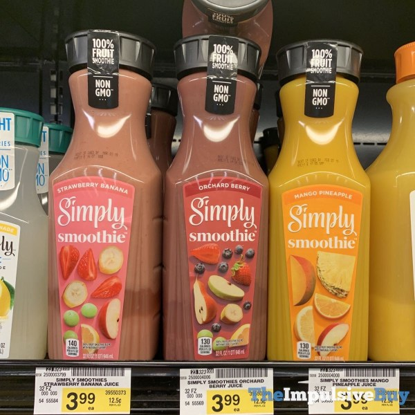 Simply Smoothie  Strawberry Banana Orchard Berry and Mango Pineapple