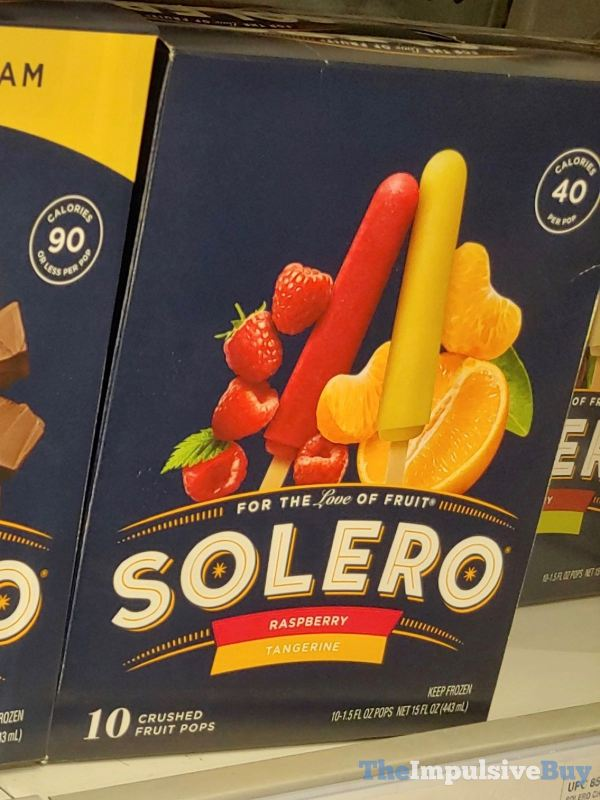 Solero Raspberry Tangerine Crushed Fruit Pops