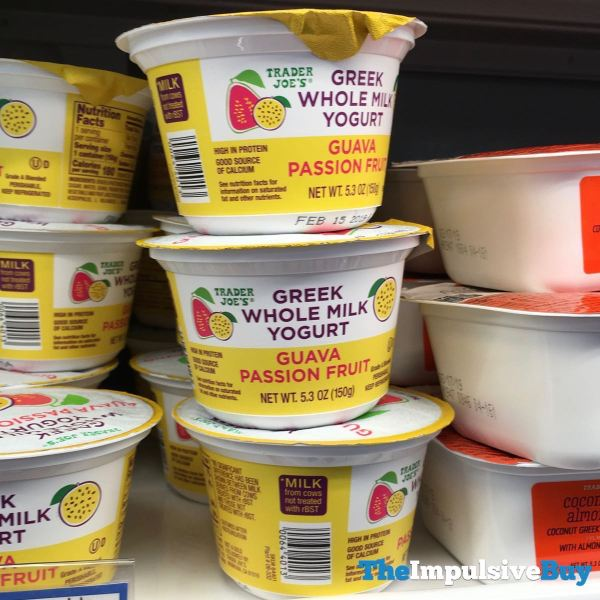 Trader Joe s Guava Passion Fruit Greek Whole Milk Yogurt