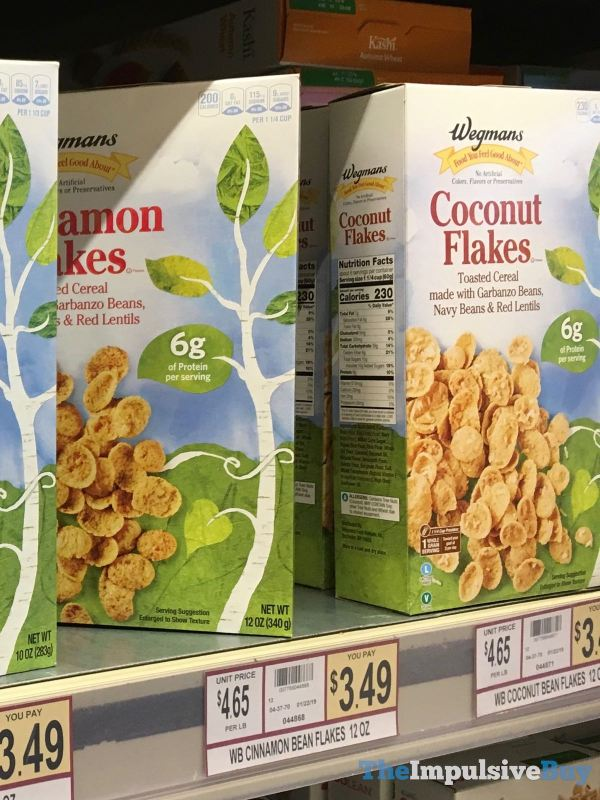 Wegmans Cinnamon Flakes and Coconut Flakes